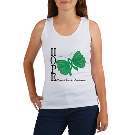 Hope Butterfly Liver Cancer Women's Tank Top