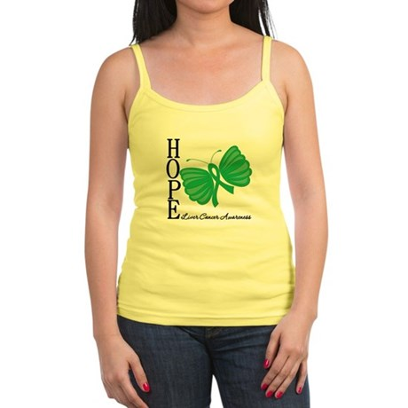 Hope Butterfly Liver Cancer Jr. Spaghetti Tank