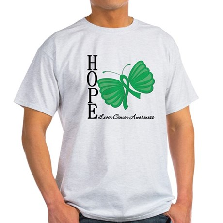 Hope Butterfly Liver Cancer Light T-Shirt