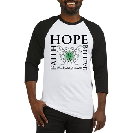Faith Hope Liver Cancer Baseball Jersey