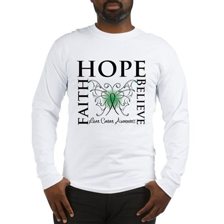 Faith Hope Liver Cancer Long Sleeve T-Shirt