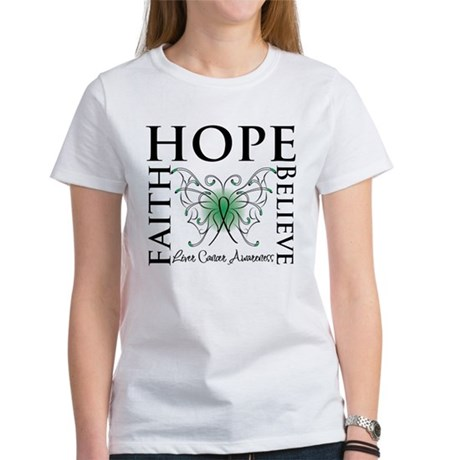 Faith Hope Liver Cancer Women's T-Shirt