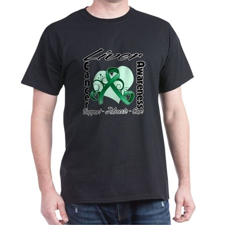 Liver Cancer Awareness Dark T-Shirt