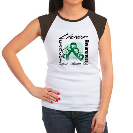 Liver Cancer Awareness Women's Cap Sleeve T-Shirt