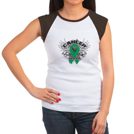 Survivor Wings Liver Cancer Women's Cap Sleeve T-S