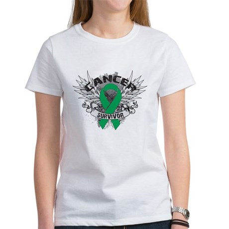 Survivor Wings Liver Cancer Women's T-Shirt