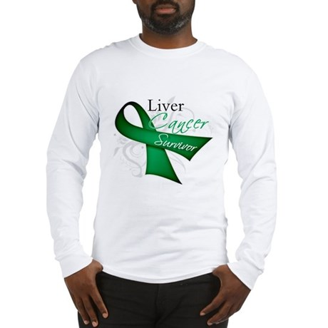 Survivor Ribbon Liver Cancer Long Sleeve T-Shirt