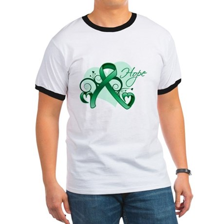 Hope Ribbon - Liver Cancer Ringer T