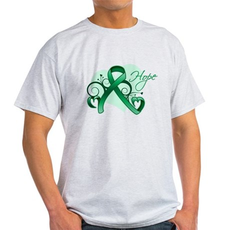 Hope Ribbon - Liver Cancer Light T-Shirt