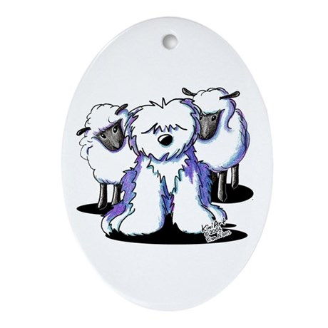 OES Sheepies Ornament (Oval)