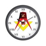 Shriners Fez Wall Clock w/S&C