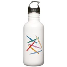 Colorful Oboes Water Bottle