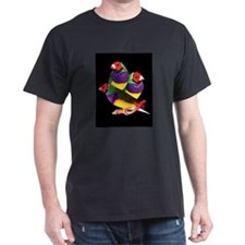 Gouldian finch Black T-Shirt