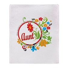 Wonderful Aunt Throw Blanket