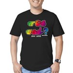 Got ASL? Rainbow SQ CC Men's Fitted T-Shirt (dark)