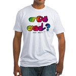 Got ASL? Rainbow SQ CC Fitted T-Shirt