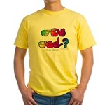 Got ASL? Rainbow SQ CC Yellow T-Shirt