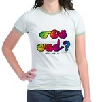 Got ASL? Rainbow SQ CC Jr. Ringer T-Shirt