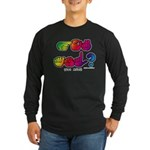 Got ASL? Rainbow SQ CC Long Sleeve Dark T-Shirt