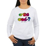 Got ASL? Rainbow SQ CC Women's Long Sleeve T-Shirt