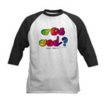 Got ASL? Rainbow SQ CC Kids Baseball Jersey