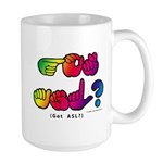 Got ASL? Rainbow SQ CC Large Mug
