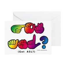 Got ASL? Rainbow SQ CC Greeting Card