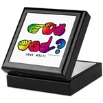 Got ASL? Rainbow SQ CC Keepsake Box