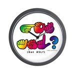 Got ASL? Rainbow SQ CC Wall Clock