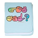 Got ASL? Pastel SQ baby blanket