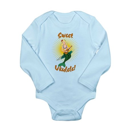 Ukulele Mermaid Long Sleeve Infant Bodysuit