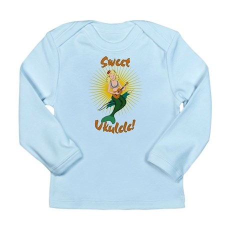 Ukulele Mermaid Long Sleeve Infant T-Shirt