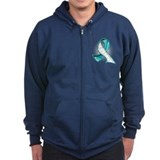 Cervical Cancer Slogans Zip Hoodie