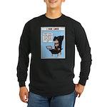 Long Sleeve Dark T-Shirt I run Linux