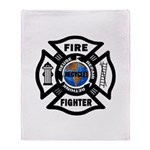 Firefighters Think Green Throw Blanket