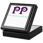 Big Purple PP Gift Keepsake Box