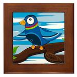 Cute Pigeon Framed Tile