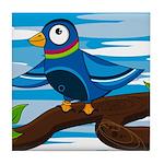 Cute Pigeon Tile Coaster