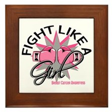Fight Like A Girl Breast Cancer Framed Tile