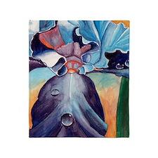 Iris watercolor painting Blanket (2-sided)