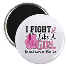 "Fight Like A Girl Breast Cancer 2.25"" Magnet (10 p"
