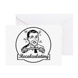 Recalculating Man Greeting Card