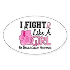 Fight Like A Girl Breast Cancer Stickers