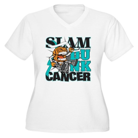 Slam Dunk Cervical Cancer Women's Plus Size V-Neck