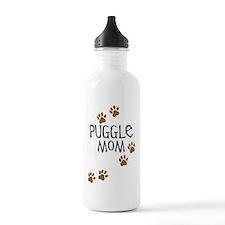 Puggle Mom Sports Water Bottle