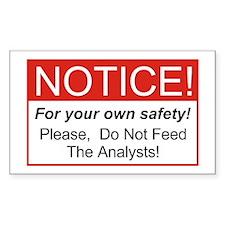 Notice / Analysts Bumper Stickers