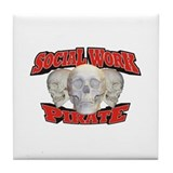 Social Work Pirate Tile Coaster