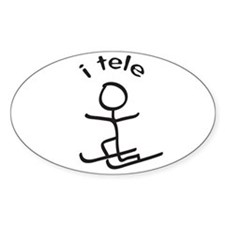 i tele Oval Decal