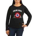 Curling Rocks! Women's Long Sleeve Dark T-Shirt