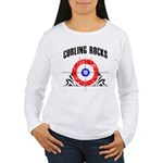 Curling Rocks! Women's Long Sleeve T-Shirt